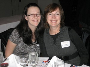 Laura Silverman and Amber Lawson at the KosherFeast social media dinner